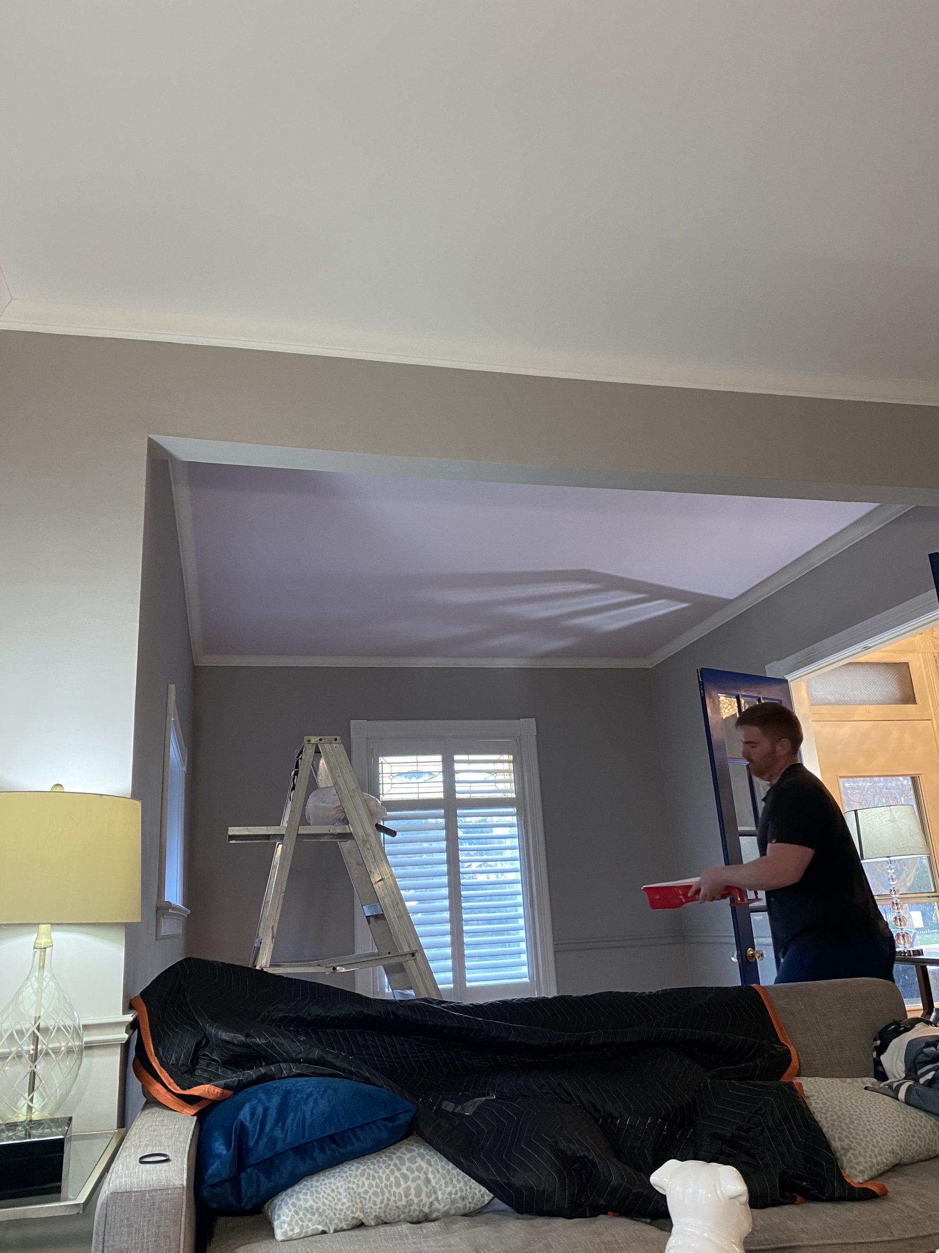Interior designer paints ceiling of Chatham home in Pink Booties by Dulux