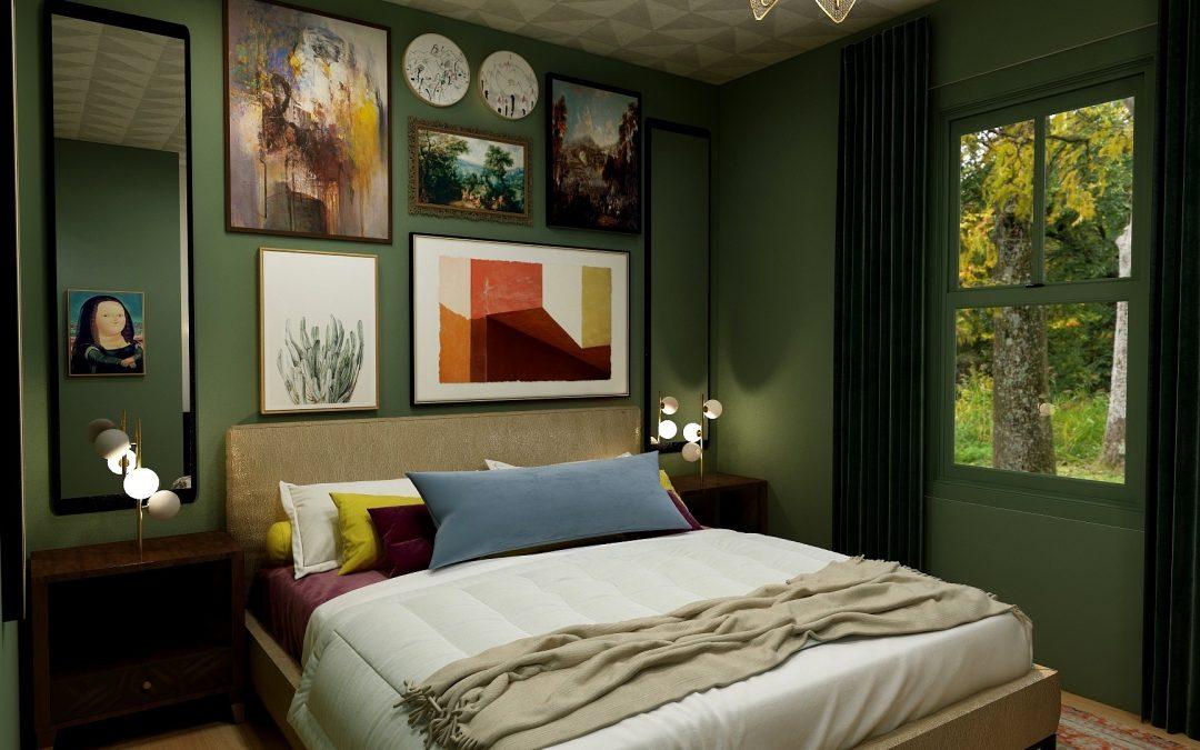 Colourful Victorian Master Bedroom Transformation