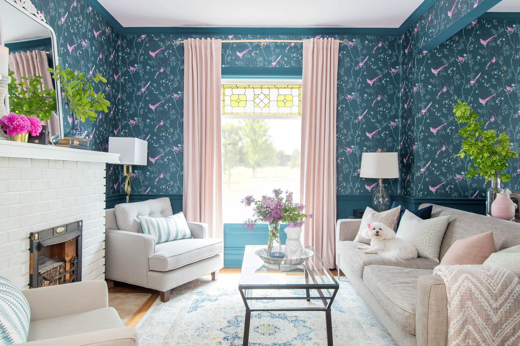 Interior designer tackles living room in her old Victorian located in Windsor