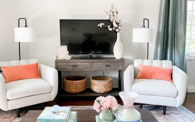 """Raised Ranch Living Room Before And After:  The """"Mom Cave"""""""