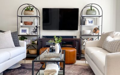 """His And Hers: The """"Preppy World Traveller"""" Warm Modern Living Room"""