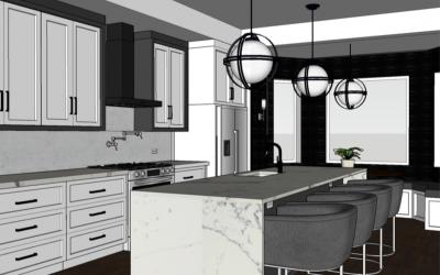 The Modern Monochromatic Main Floor